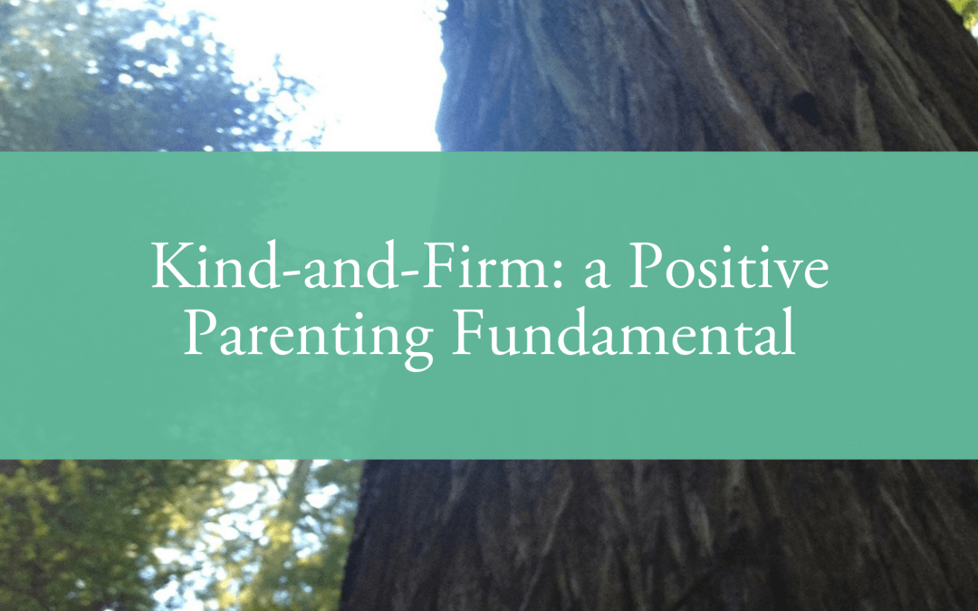 Kind-and-Firm: a Positive Parenting Fundamental