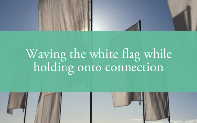 Waving the white flag while holding onto connection