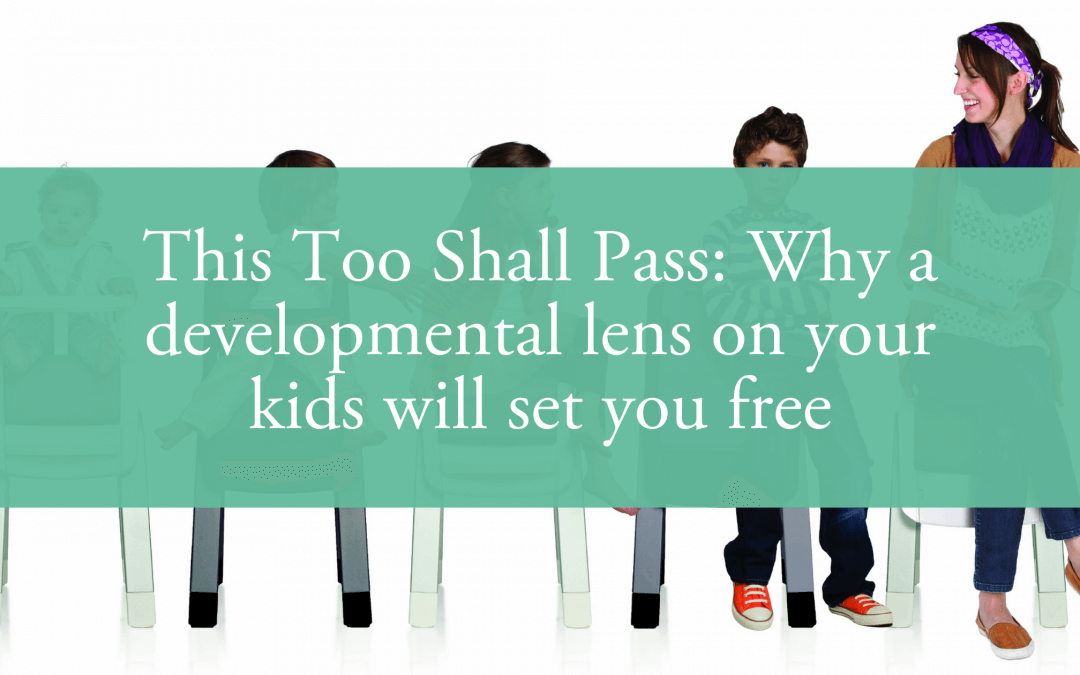 This Too Shall Pass: Why a developmental lens on your kids will set you free