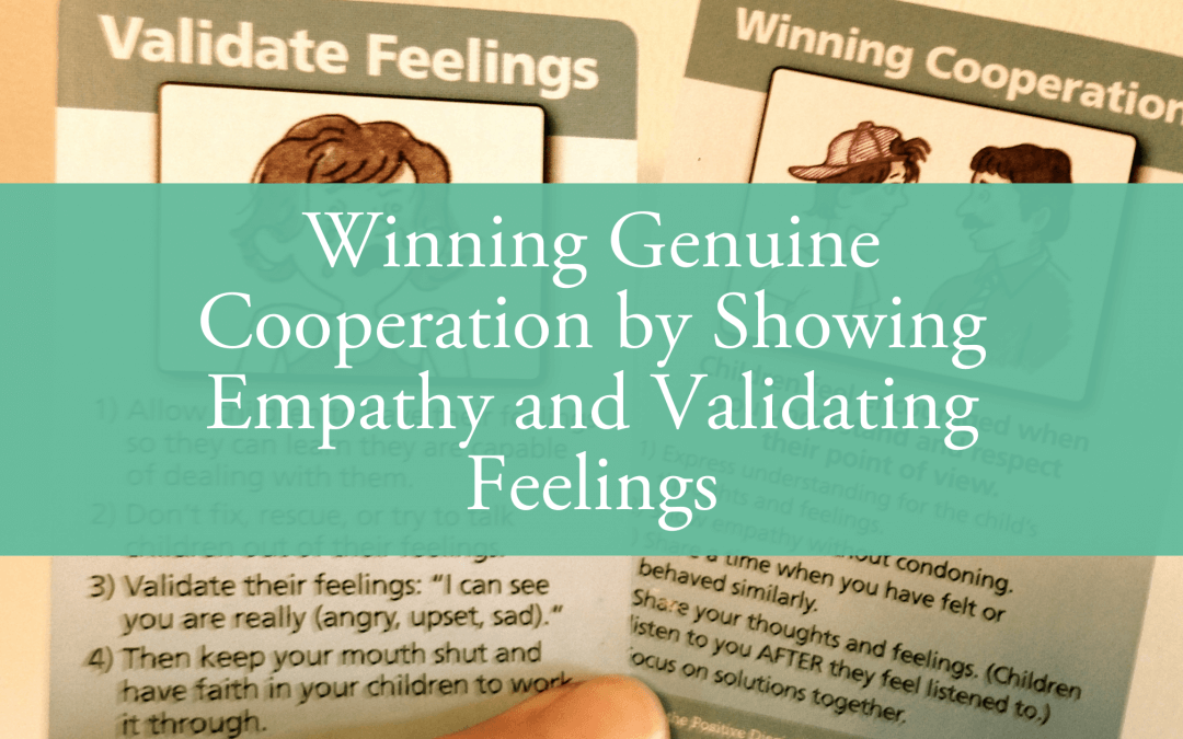 Winning Genuine Cooperation by Showing Empathy and Validating Feelings